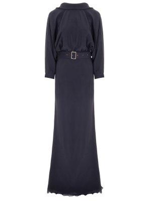 Платье шелковое в пол LAROOM