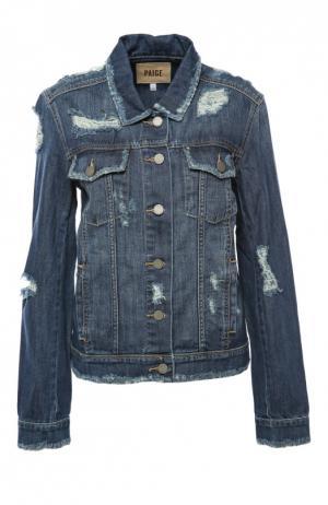 Куртка джинсовая Paige. Цвет: синий