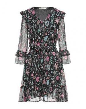 Платье до колена GAUDÌ. Цвет: черный