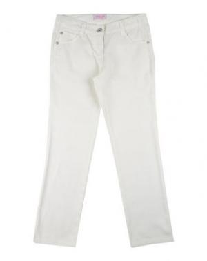 Повседневные брюки DENNY ROSE YOUNG GIRL. Цвет: слоновая кость