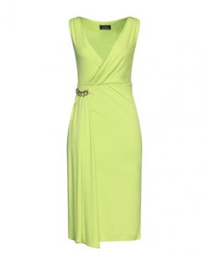 Платье до колена CLIPS. Цвет: кислотно-зеленый