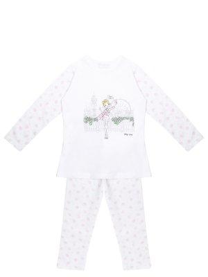 Пижама хлопковая принтом LA PERLA