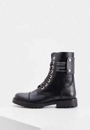 Ботинки Zadig & Voltaire. Цвет: черный