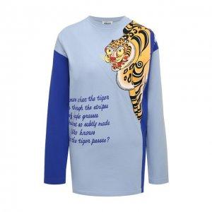 Хлопковый пуловер Kenzo. Цвет: синий