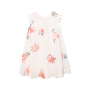Хлопковое платье Emporio Armani. Цвет: розовый