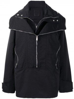 Ветровка с молниями Givenchy. Цвет: черный
