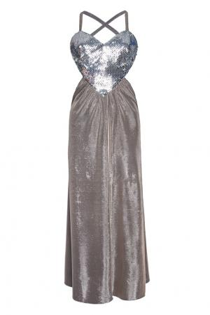 Платье Amore Azzaro. Цвет: серебряный