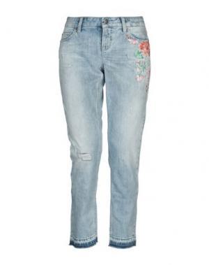 Джинсовые брюки-капри CAMBIO. Цвет: синий