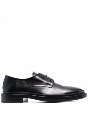 Leather derby shoes Jil Sander. Цвет: черный