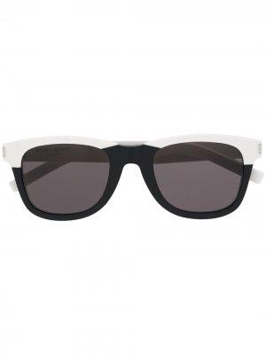 Солнцезащитные очки 51 в круглой оправе Saint Laurent Eyewear. Цвет: черный