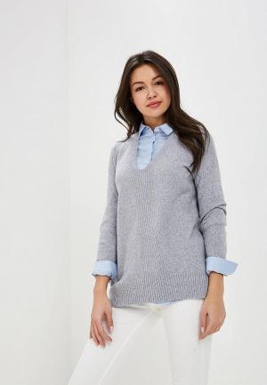 Пуловер Oasis. Цвет: серый