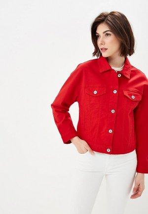 Куртка джинсовая Ostin O'stin. Цвет: красный