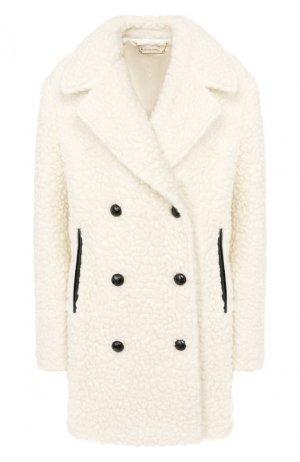 Двубортное пальто By Malene Birger. Цвет: белый