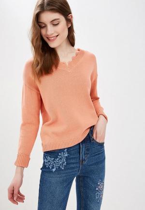 Пуловер Sela. Цвет: коралловый