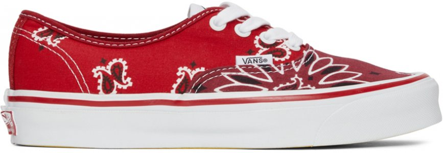 Red & Pink Bedwin Heartbreakers Edition OG Authentic LX Sneakers Vans. Цвет: red bandana