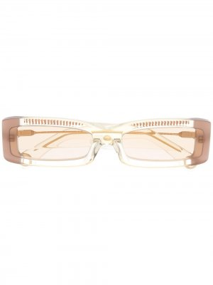 Солнцезащитные очки Les Lunettes 97 Jacquemus. Цвет: желтый