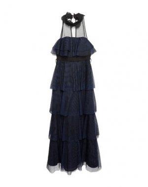 Длинное платье ALLURE. Цвет: синий