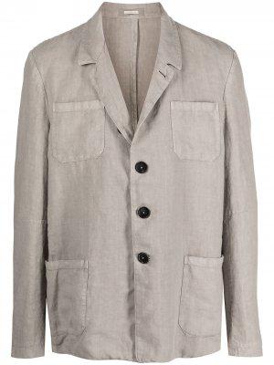 Куртка-рубашка с длинными рукавами Massimo Alba. Цвет: серый