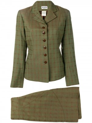 Юбка и пиджак Alaïa Pre-Owned. Цвет: зеленый