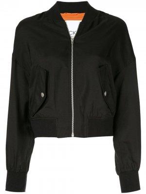 Куртка-бомбер на молнии CK Calvin Klein. Цвет: черный