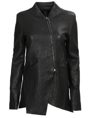 Асимметричная куртка из кожи ILARIA NISTRI