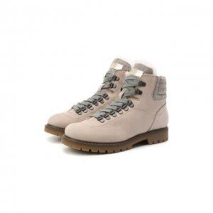 Кожаные ботинки Jarrett. Цвет: бежевый