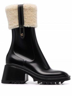 Ботинки с мехом Chloé. Цвет: черный