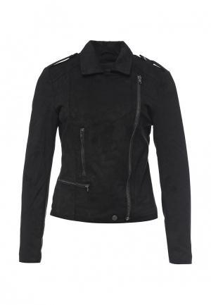 Куртка кожаная Ichi. Цвет: черный