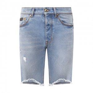Джинсовые шорты Versace Jeans Couture. Цвет: синий