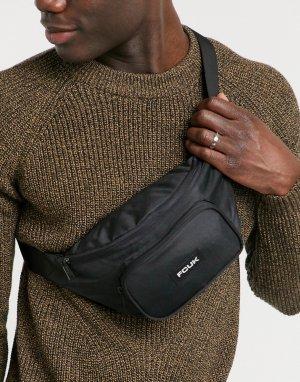 Черная сумка-кошелек на пояс -Черный French Connection