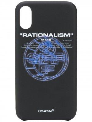 Чехол для iPhone XR Rationalism Off-White. Цвет: черный