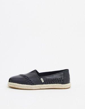 Черные эспадрильи -Черный Toms