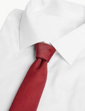 Мужской галстук из твила M&S Collection. Цвет: бургунди