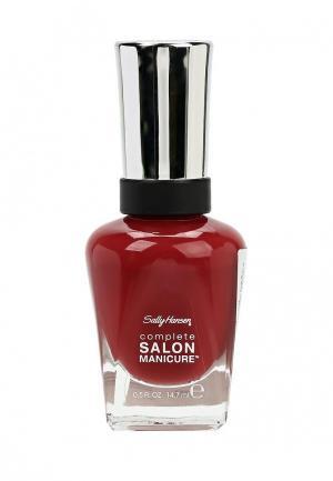 Лак для ногтей Sally Hansen Complete Salon Manicure, 713 Moroccan Roll, 14 мл. Цвет: красный