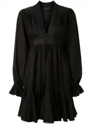 Ярусное платье мини Dandelion Karen Walker. Цвет: черный