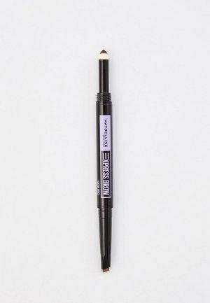 Карандаш для бровей Maybelline New York EXPRESS BROW SATIN, оттенок 025, Коричневый, 1 г. Цвет: коричневый