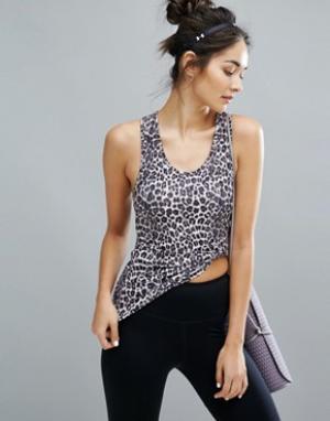Майка с леопардовым принтом Y.A.S. Цвет: мульти