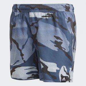 Шорты для плавания Camouflage Performance adidas. Цвет: синий