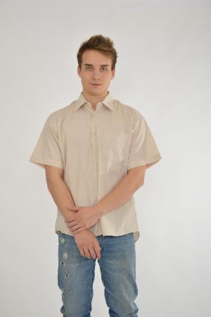 Рубашка Davani. Цвет: бежевый