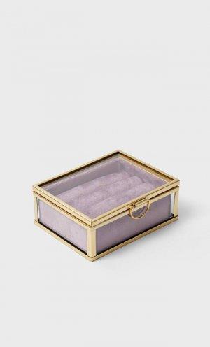 Бархатная Шкатулка Для Колец Женская Коллекция Multicolor 103 Stradivarius. Цвет: multicolor