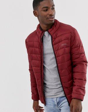 Дутая куртка с воротником-стойкой -Красный Bellfield