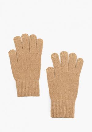 Перчатки Mango Man TOUCH. Цвет: бежевый