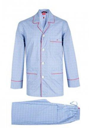 Пижама ISAIA. Цвет: голубой