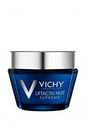 Крем для лица Vichy Ночной LiftActiv Supreme, против морщин и упругости кожи, 50 мл. Цвет: белый