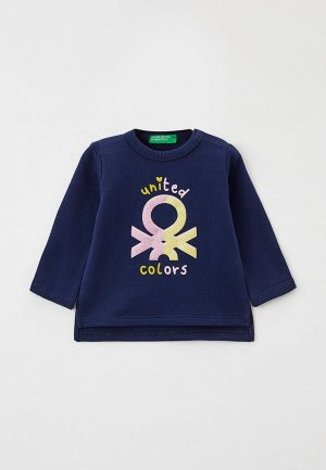 Лонгслив United Colors of Benetton. Цвет: синий