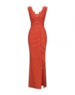 Длинное платье LIPSY. Цвет: оранжевый