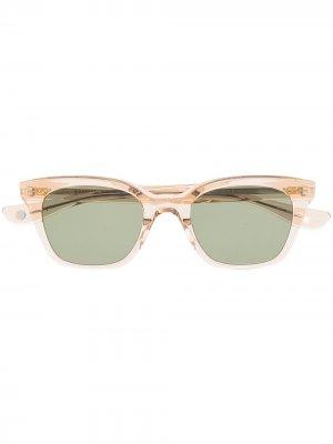Солнцезащитные очки в прозрачной оправе Garrett Leight. Цвет: нейтральные цвета