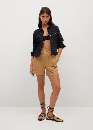 Джинсовая куртка из хлопка - Vicky Mango. Цвет: черный деним