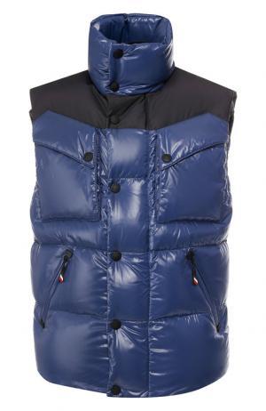 Пуховый жилет Poris Moncler Grenoble. Цвет: синий