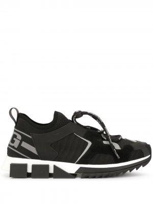 Кроссовки Sorrento со вставками Dolce & Gabbana. Цвет: черный